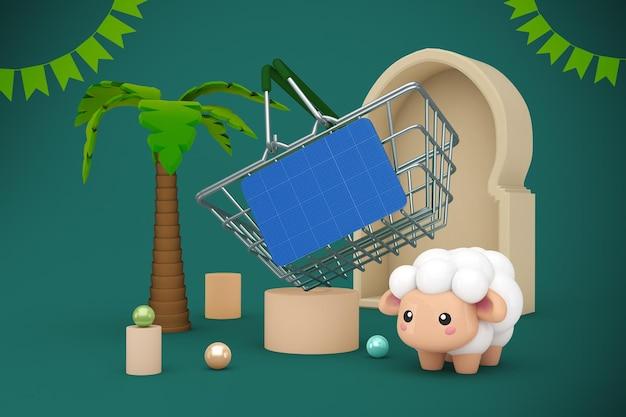 Adha shopping basket mockup