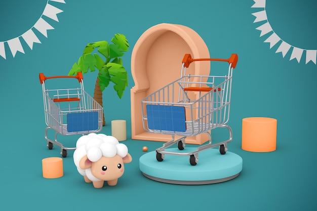 Adha shopping cart mockup