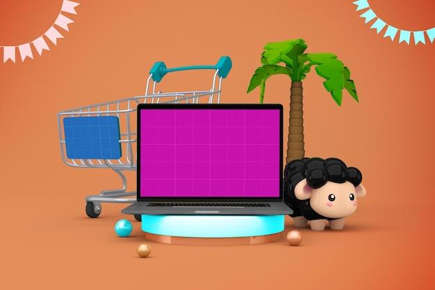 Adha shopping mockup