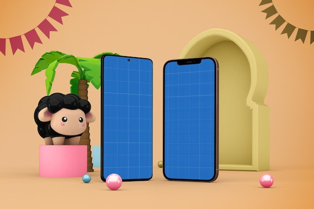 Adha smart phones mockup
