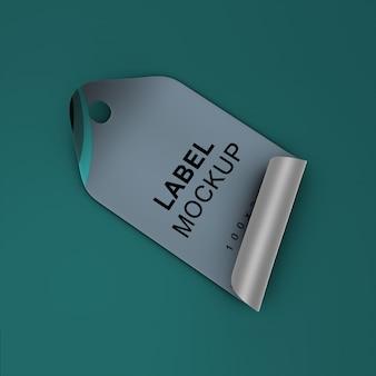 Adhesive tag mockup