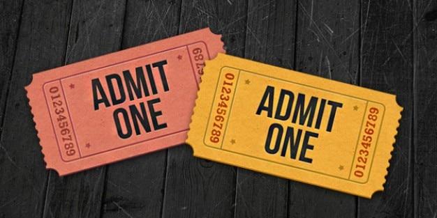 Admit one ticket icons