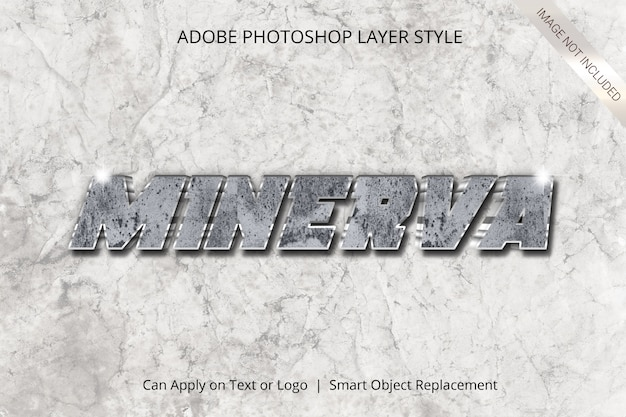 Adobe photoshopレイヤースタイルテキスト効果