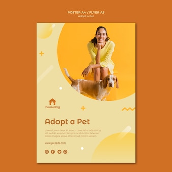 Принять шаблон плаката собаки