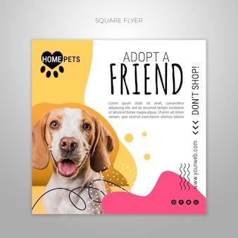 애완 동물 전단지 템플릿 채택 무료 PSD 파일