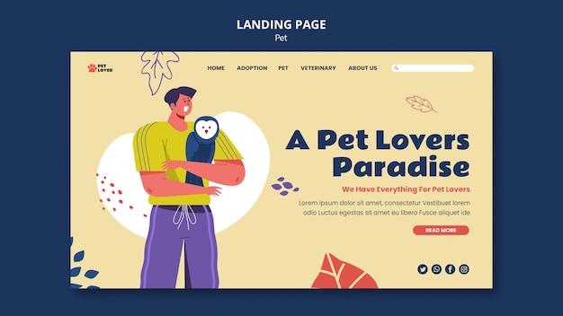 ペットのランディングページを採用する 無料 Psd