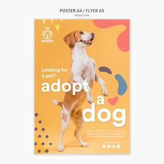 애완 동물 포스터 디자인을 채택하십시오