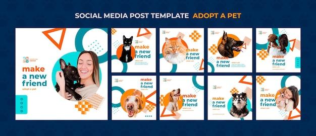 Принять домашнее животное пост в социальных сетях