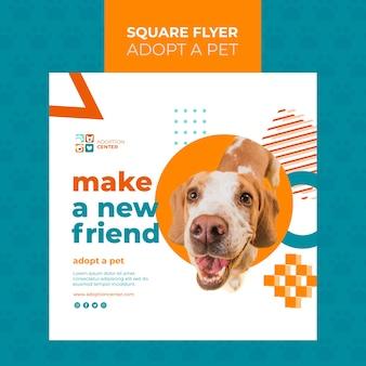 애완 동물 광장 전단지 디자인을 채택