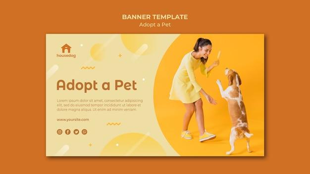 Adopt a dog banner template