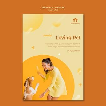 Adopt a dog flyer template Free Psd