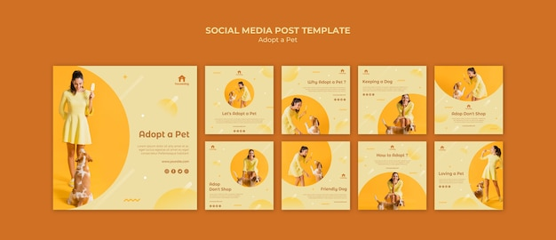 Adopt a dog social media post template