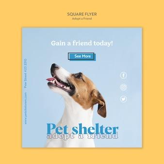 Adopt a friend flyer template