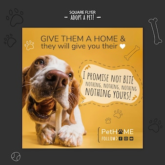Adopt a friend square flyer