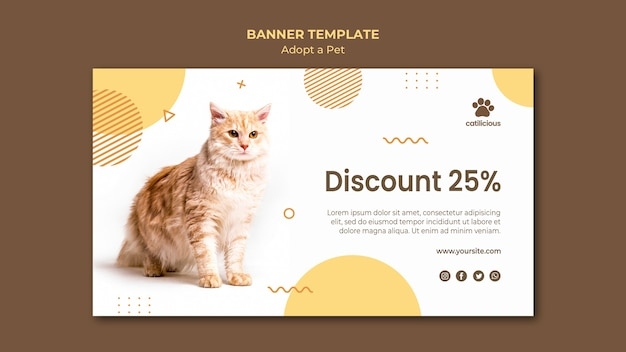 Adopt a pet banner style
