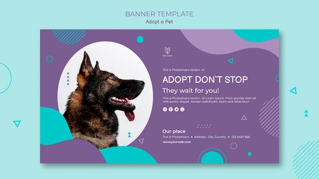 Adopt a pet banner template design