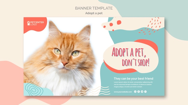 Adopt a pet banner template style