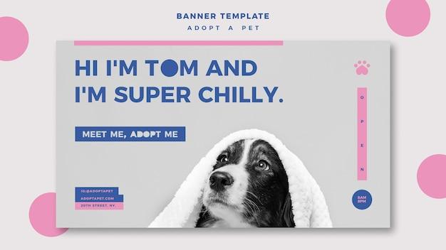 Adopt a pet concept banner template