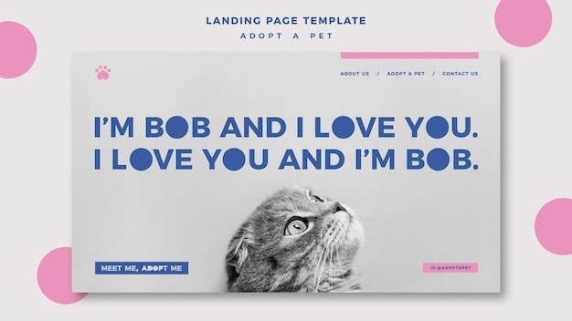 Adopt a pet concept landing page template