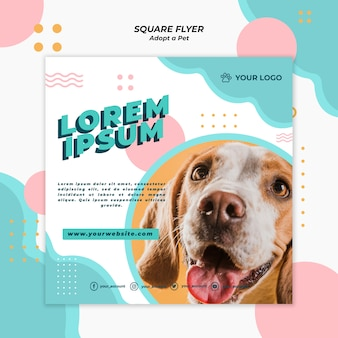 Adopt pet flyer template theme