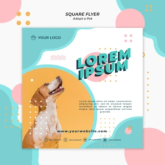 Adopt pet flyer template