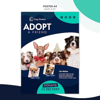 Adopt a pet poster template