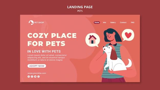 애완 동물 랜딩 페이지 채택