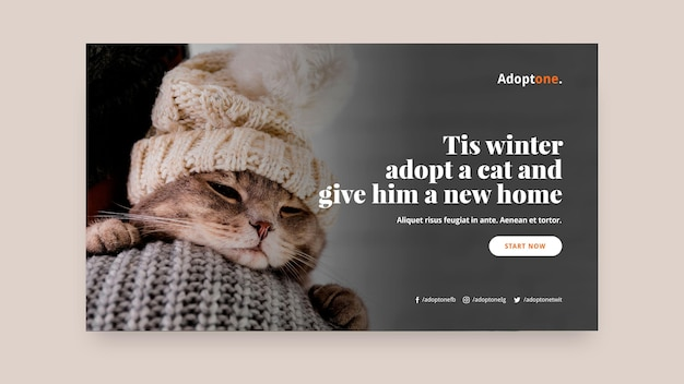 Adoption horizontal banner template