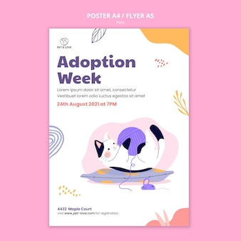 Adoption week poster template