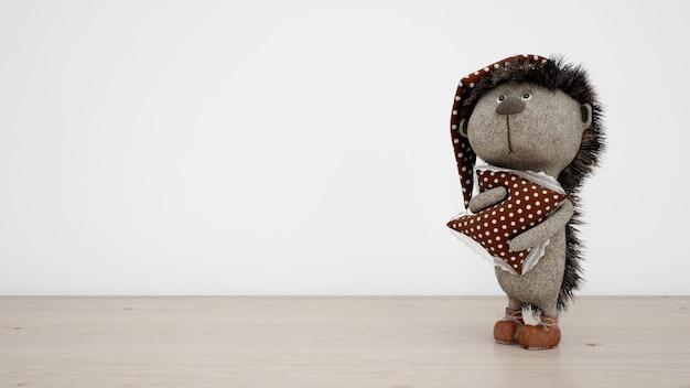Adorable stuffed hedgehog with pajamas