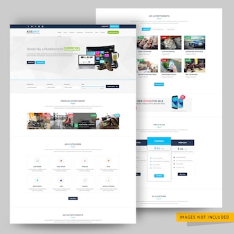 Ads post classified and listing website template premium psd