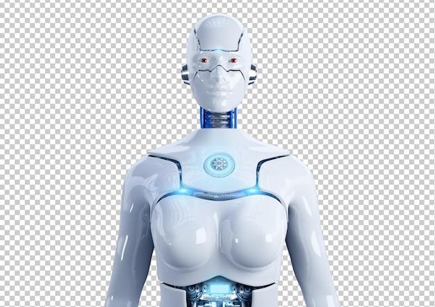 Продвинутый женский гуманоидный робот с изолированным искусственным интеллектом