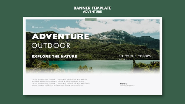Adventure banner template concept