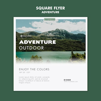 Adventure flyer template design