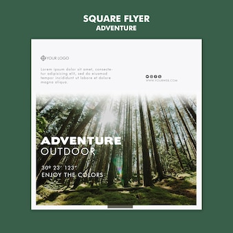 Adventure flyer template theme