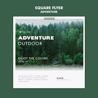 Adventure flyer template