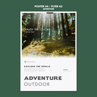 Adventure poster template concept