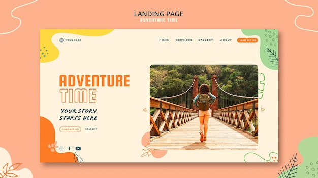 Adventure time landing page template