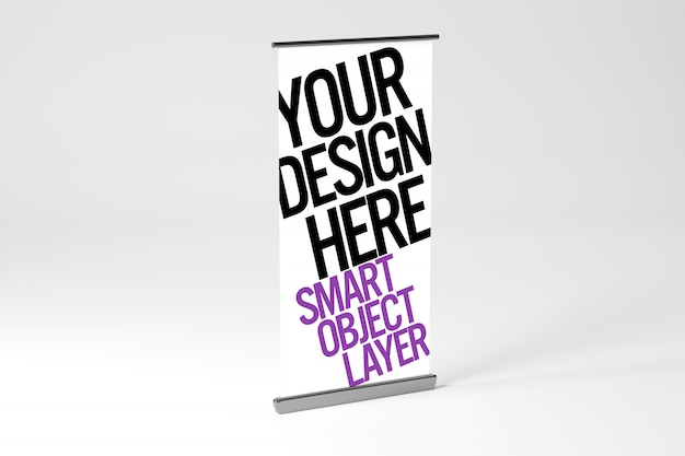 Advertisement stand mockup rollup or xbanner