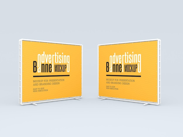 Advertising banners mockup