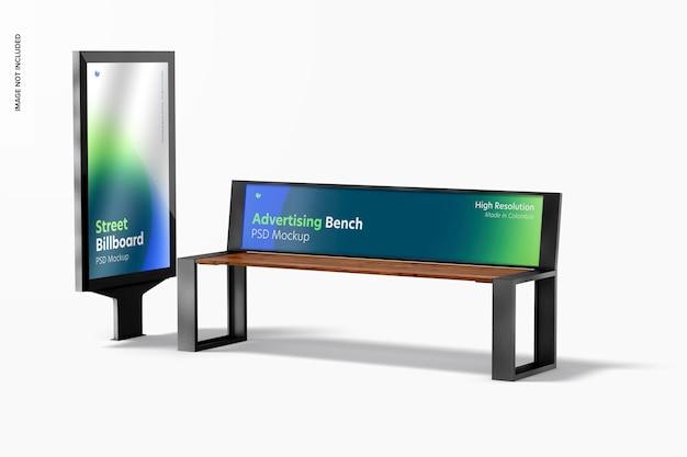 Advertising bench mockup