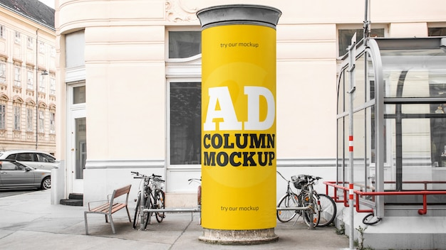 Advertising column mockup