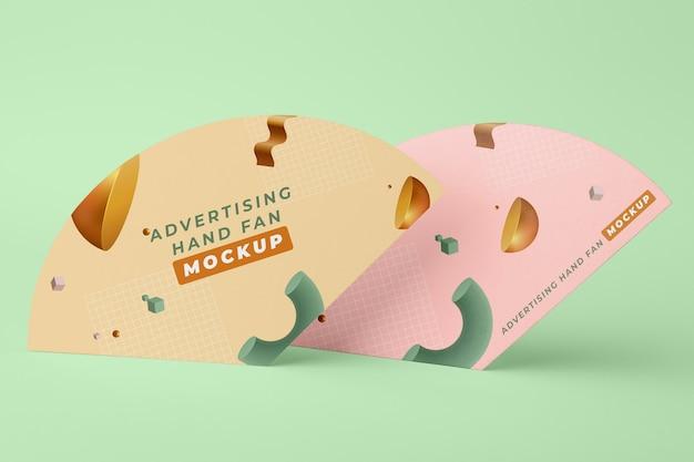 扇子のモックアップの宣伝