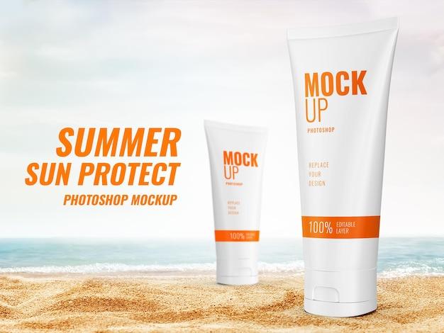 광고 로션 여름 모형