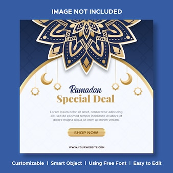 Advertising ramadan special price big sale discount banner