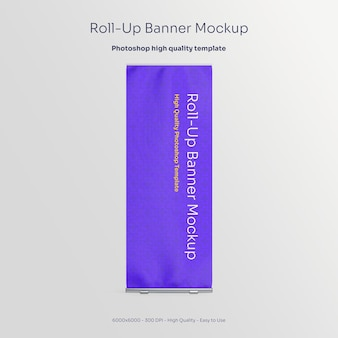 Advertising rollup banner mockup