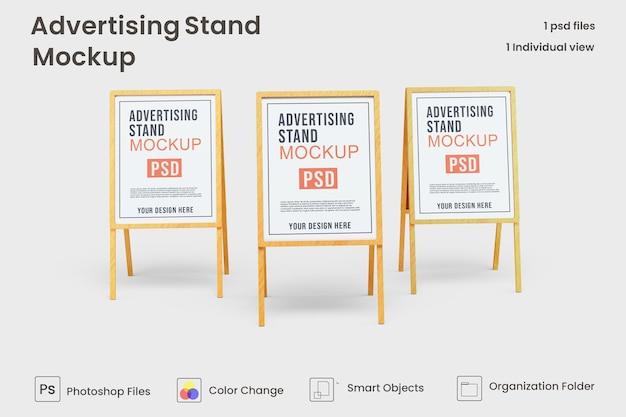 Advertising stand banner mockup design premium psd