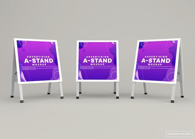 광고 스탠드 배너 모형 디자인
