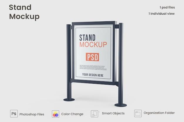 広告スタンドバナーモックアップデザイン