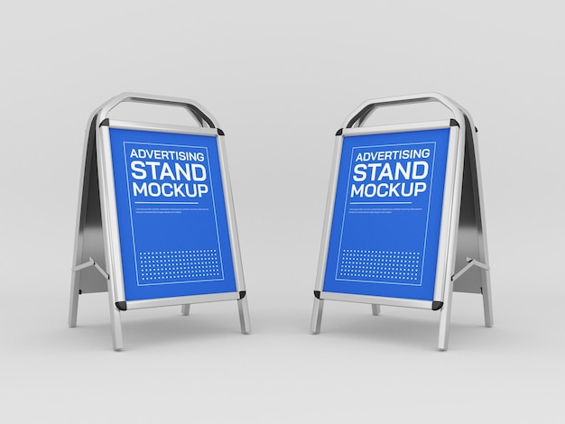 Advertising stands mockup